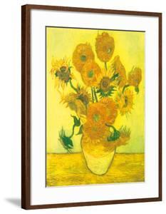 Still Life, Vase With Fifteen Sunflowers by Vincent van Gogh