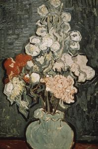 Still Life: Vase with Rose, Mallows by Vincent van Gogh