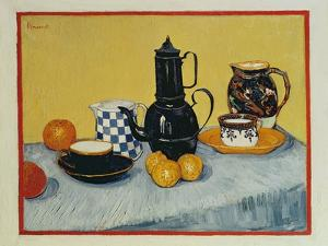 Still Life with Blue Enamel Coffeepot, Earthenware and Fruit, 1888 by Vincent van Gogh