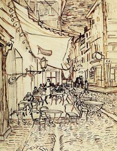 Study for the Cafe Terrace at Night by Vincent van Gogh