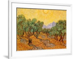 Sun over Olive Grove, 1889 by Vincent van Gogh