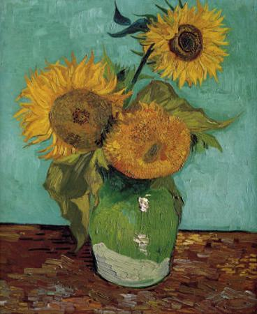 Sunflowers, First Version by Vincent van Gogh