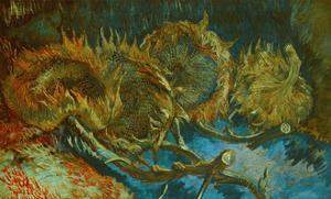 Sunflowers. Oil on canvas (1887) Cat. No. 215. by VINCENT VAN GOGH