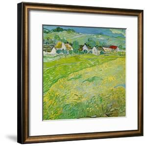 Sunny Meadow in Auvers by Vincent van Gogh