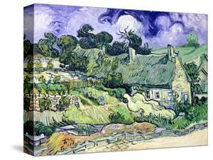 Thatched Cottages at Cordeville, Auvers-Sur-Oise, c.1890 by Vincent van Gogh