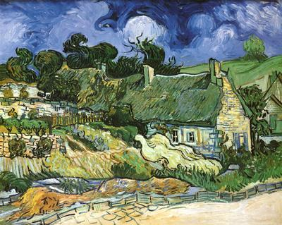 Thatched Cottages at Cordeville by Vincent van Gogh