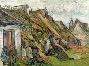 Thatched Cottages in Chaponval, Auvers-Sur-Oise, c.1890 by Vincent van Gogh