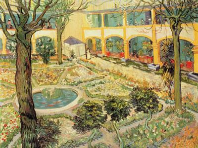 The Asylum Garden at Arles, c.1889 by Vincent van Gogh