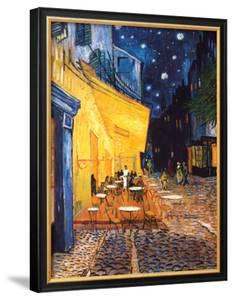 The Cafe Terrace on the Place du Forum, Arles, at Night, c.1888 by Vincent van Gogh