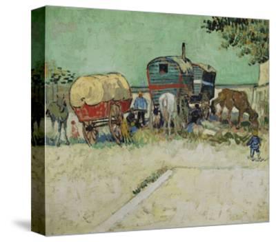 The Caravans, Gypsy Camp Near Arles (Les Roulottes / Campement De Bohémiens), 1888