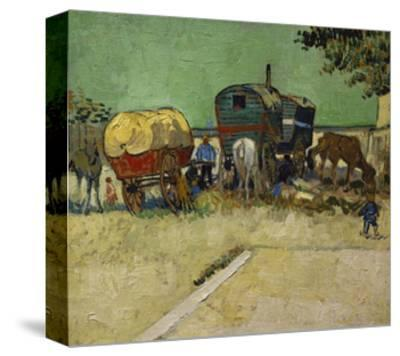 The Caravans, Gypsy Encampment Near Arles, 1888