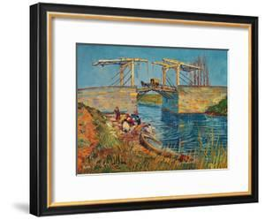 The Drawbridge at Arles with a Group of Washerwomen, c.1888 by Vincent van Gogh