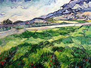 The Green Wheatfield Behind the Asylum, 1889 by Vincent van Gogh