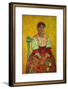 The Italian Woman (Agostina Segatori, Patron of the Cabaret, Le Tambourin), c.1887 by Vincent van Gogh