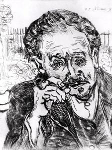 The Man with the Pipe, Portrait of Doctor Paul Gachet 15th March 1890 by Vincent van Gogh