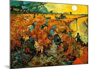 The Red Vineyard at Arles, c.1888 by Vincent van Gogh