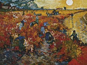 The Red Vineyard in Arles, 1888 by Vincent van Gogh