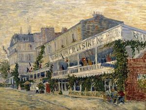 The Restaurant de la Sirene in Asnieres, c.1887 by Vincent van Gogh
