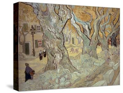 The Road Menders at Saint-R?, or Large Plane Trees, 1889