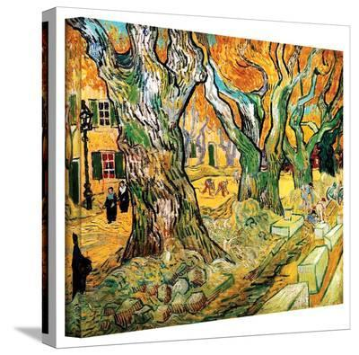 Vincent van Gogh 'The Road Menders' Wrapped Canvas Art-Vincent van Gogh-Gallery Wrapped Canvas