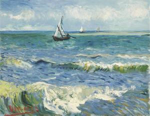The Sea at Les Saintes-Maries-de-la-Mer, 1888 by Vincent van Gogh