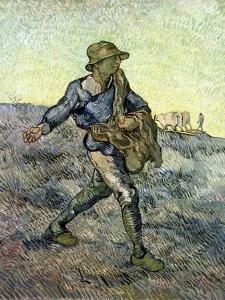 The Sower (After Millet) 1890 by Vincent van Gogh