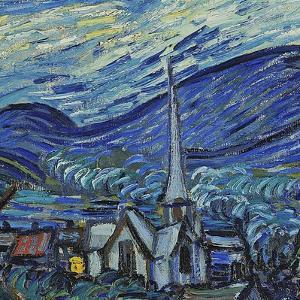 The Starry Night, June 1889 (Detail) by Vincent van Gogh
