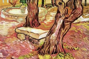 The Stone Bench In The Garden of Saint-Paul Hospital by Vincent van Gogh