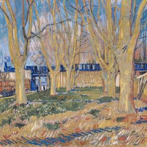 The Viaduct in Arles. the Blue Train, 1888 by Vincent van Gogh