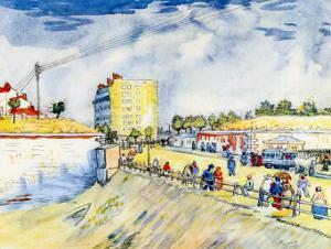 The Walls of Paris by Vincent van Gogh