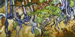 Tree Roots and Tree Trunks by Vincent van Gogh