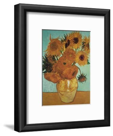 Twelve Sunflowers on Blue, c.1888