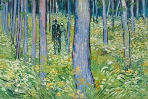 Undergrowth with Two Figures, 1890 by Vincent van Gogh