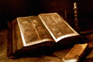Van Gogh: Bible, 1885 by Vincent van Gogh