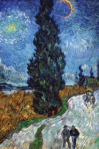 Van Gogh - Country Road in Provence by Night by Vincent van Gogh