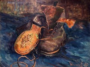 Van Gogh: The Shoes, 1887 by Vincent van Gogh