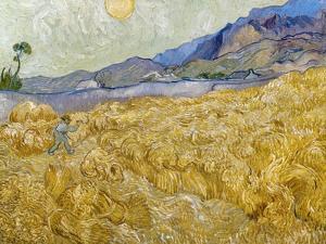 Van Gogh: Wheatfield, 1889 by Vincent van Gogh