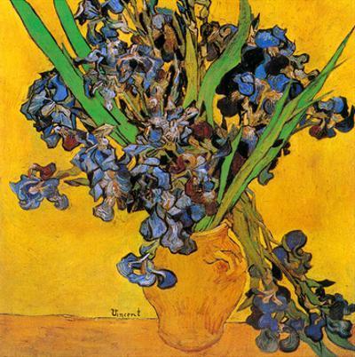 Vase avec iris (Détail)