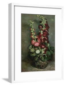 Vase of Hollyhocks, 1886 by Vincent van Gogh