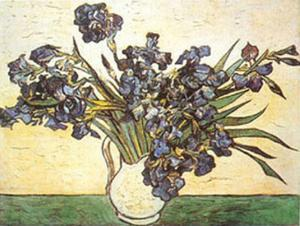 Vase of Irises, c.1890 by Vincent van Gogh