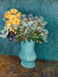 Vase of Lilacs, Daisies and Anemones, c.1887 by Vincent van Gogh