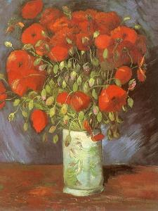 Vase of Poppies, 1886 by Vincent van Gogh