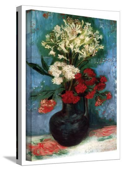 Vincent van Gogh 'Vase With Carnations and Other Flowers' Wrapped Canvas Art-Vincent van Gogh-Gallery Wrapped Canvas
