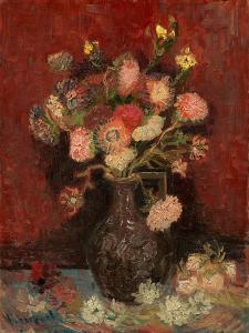 Vase with Chinese Asters and Gladioli by Vincent van Gogh