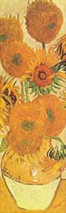 Vase with Fifteen Sunflowers Detail by Vincent van Gogh