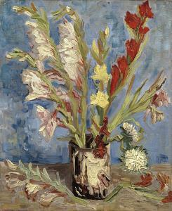 Vase with Gladioli and China Asters, 1886 by Vincent van Gogh