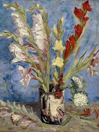 Vase with Gladioli and China Asters, 1886