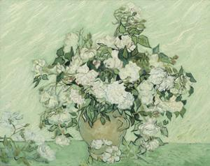 Vase with Pink Roses, 1890 by Vincent van Gogh