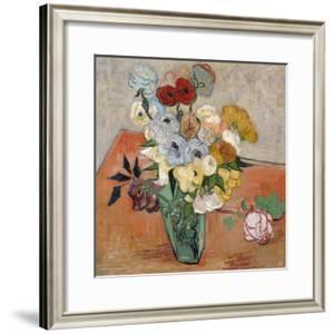 Vase with Roses and Anemones, 1890 by Vincent van Gogh