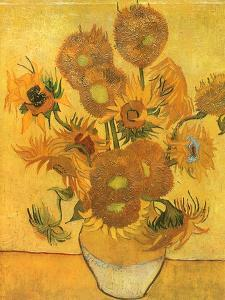 Vase with Sunflowers, 1889 by Vincent van Gogh